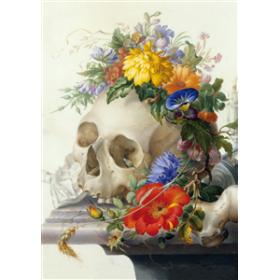 Sketch book: flowery skull