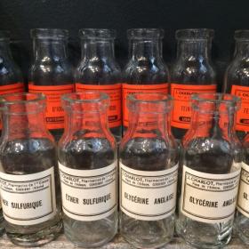 Old laboratory flask