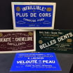 40/50's avertising signs in embossed cardboard