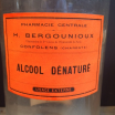 "Old pharmacy jar of ""Denatured alcohol"""