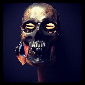 Crâne Mademoiselle LY - Réplique artiste J.Cavailles