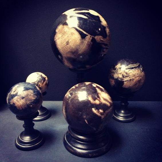 Boule de bois pétrifié