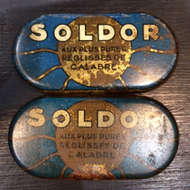 Old box of licorice SOLDOR