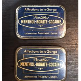 Boîte de pastilles Menthol-Borate-Cocaïne