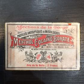 Boîte de pastilles Menthol-Cocaïne 2 Francs