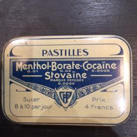 Boîte de pastilles Menthol-Cocaïne Salmon