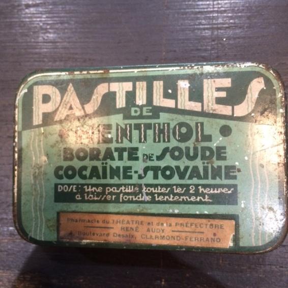 Boîte de pastilles Menthol-Cocaïne