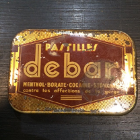 Boîte de pastilles Menthol-Cocaïne Debar