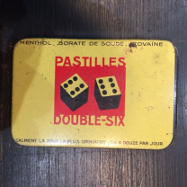 Box of DOUBLE-SIX lozenges with menthol and stovaïne