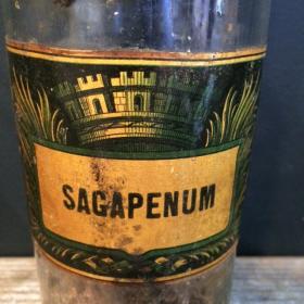 Flacon pharmacie XIXème: Sagapenum