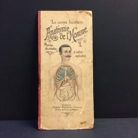 Planche démontable anatomie de l'Homme par VIGOT Frères - 1900