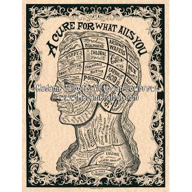 Affiches gothiques victoriennes Madame Talbot: Le Remède