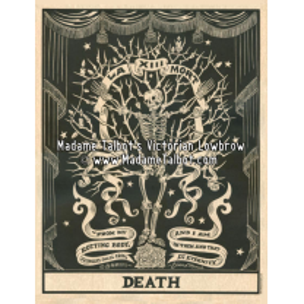 Affiches gothiques victoriennes Madame Talbot: Death Tarot