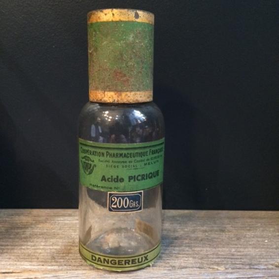 Flacon pharmacie: Acide Picrique - Dangereux