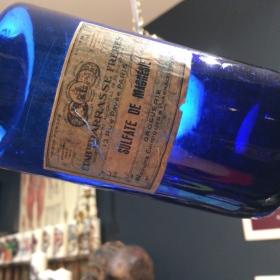 Flacon pharmacie bleu: Sulfate de Magnésie