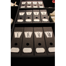 "Files drawers (""Merci Louis"") - Clock"