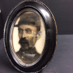 Haunted frame: Uncle Silas (black oval)