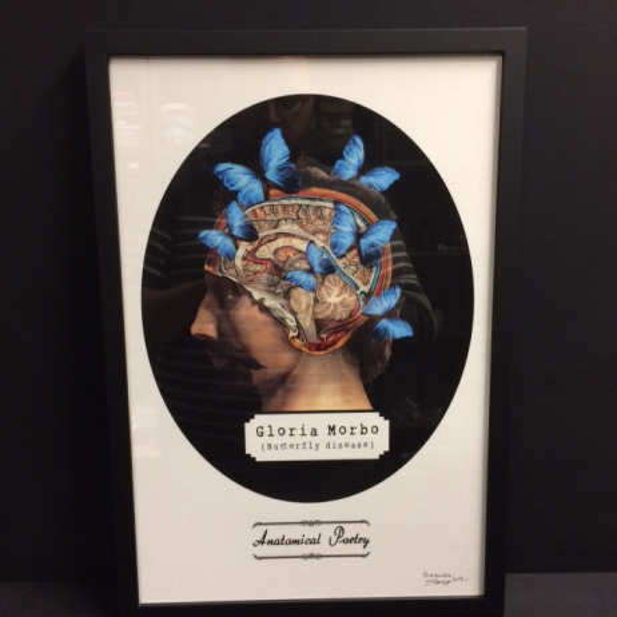 "Art print ""Anatomical Poetry "" by Mike Sajnoski - 2018"
