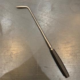 Instrument de chirurgie ancien: Cautère - manche ébène grip