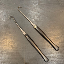 Old surgical Instruments: Tenaculum with fine ebony handle