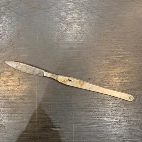 Instrument de chirurgie ancien: Scalpel de poche en acier inoxydable