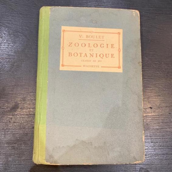 Livre ancien: Zoologie et Botanique 1924