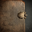 Old book in leather binding of the XVIIIth century