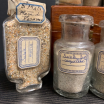 Vintage collection of sand samples dating from 1912