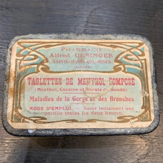 Boîte de pastilles Menthol-Cocaïne (UNSINGER)