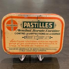 Boîte de pastilles Menthol-Cocaïne (SOGEDROF)