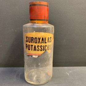 Flacon de pharmacie XIXème - Suroxalas Potassicus