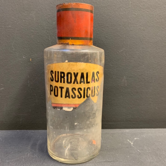 Victorian pharmacy bottle: Suroxalas Potassicus