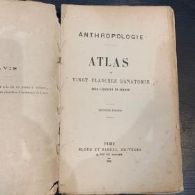 Atlas anatomique - Anthropologie 1881